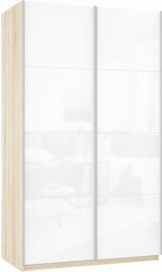 Шкаф-купе двухдверный (Белое стекло/Белое стекло) | E1 Прайм