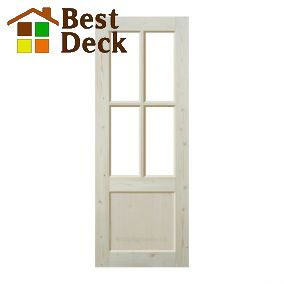 Дверь из массива сосны неокрашенная; филёнчатая ДОФ-ПП