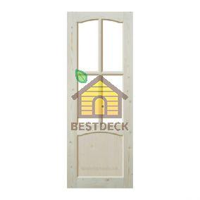 Дверь из массива сосны неокрашенная; филёнчатая ДОФ-АА