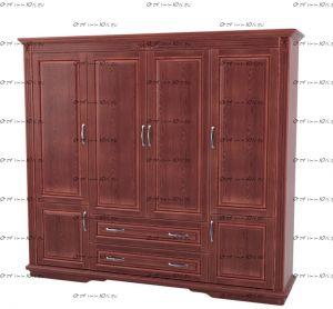 Шкаф 4-дверный Палермо Массив DreamLine (180х57х219,4)