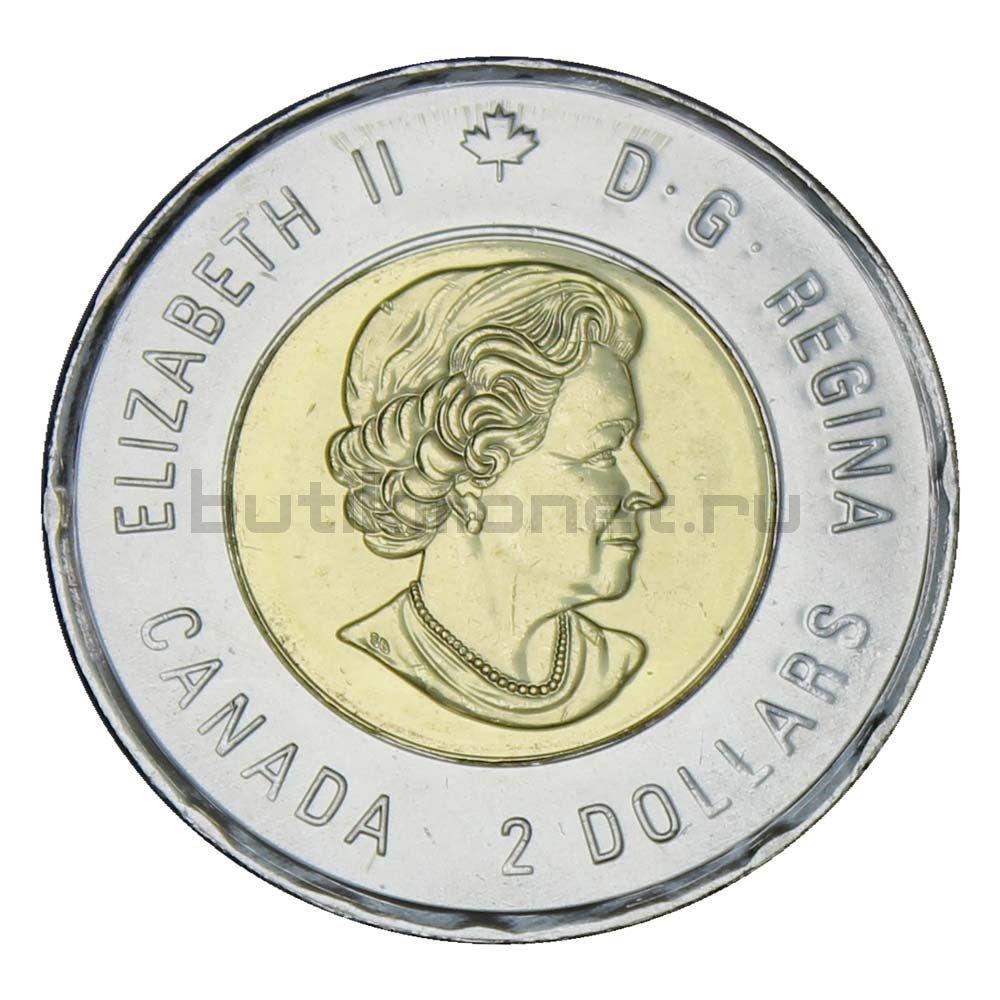 2 доллара 2020 Канада 100 лет со дня рождения Билла Рида