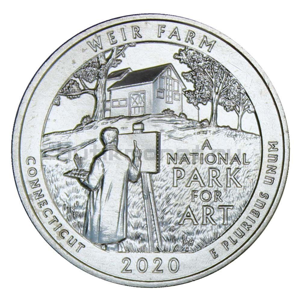 25 центов 2020 США Ферма Дж. А. Вейра Коннектикут P
