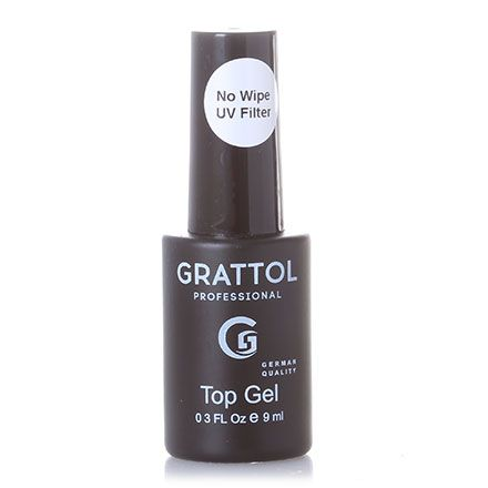 ТОП без липкого слоя  UV  NO WIPE Top GEL Grattol  9мл