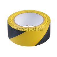 Лента разметочная TUNDRA. 48 мм х 33 м, черно-жёлтая, клейкая