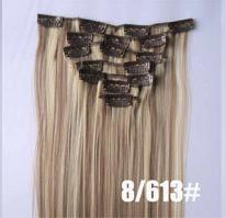 Искусственные термостойкие волосы на заколках №8/613 (55 см) - 12 заколок, 130 гр.
