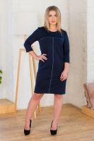 Платье арт.0121-09 темно-синее, милано
