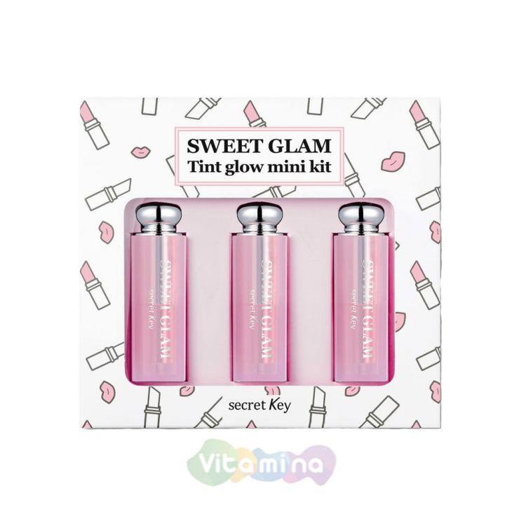 Secret Key Набор мини-тинтов, усиливающих натуральный цвет губ Sweet Glam Tint Glow Mini Kit, 3 шт*1,6 г