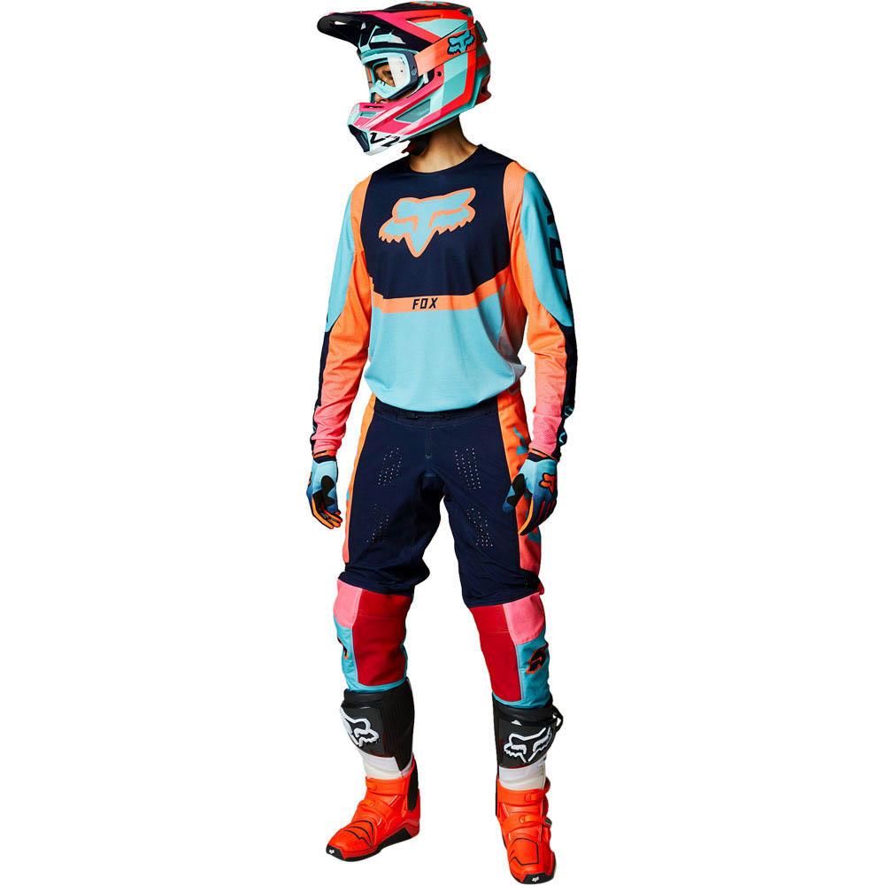 Fox 2021 360 Voke Aqua джерси и штаны для мотокросса