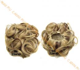 """Искусственные термостойкие волосы - Шиньон """"Пучок"""" #22H10, вес 60 гр"""