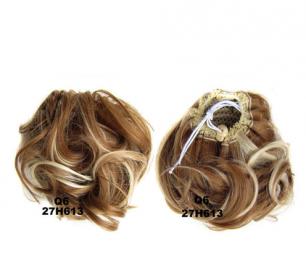 """Искусственные термостойкие волосы - Шиньон """"Пучок"""" #27H613, вес 60 гр"""