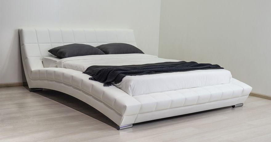 Кровать Оливия (арт. Марика 483 к/з (белый))| Моби