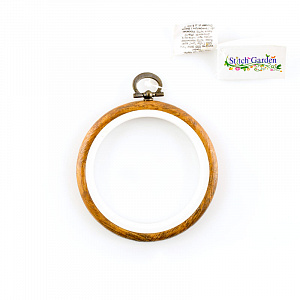 Пяльцы - рамка Hemline круглая,  7,5 см. пластик, коричневый  N9003/W