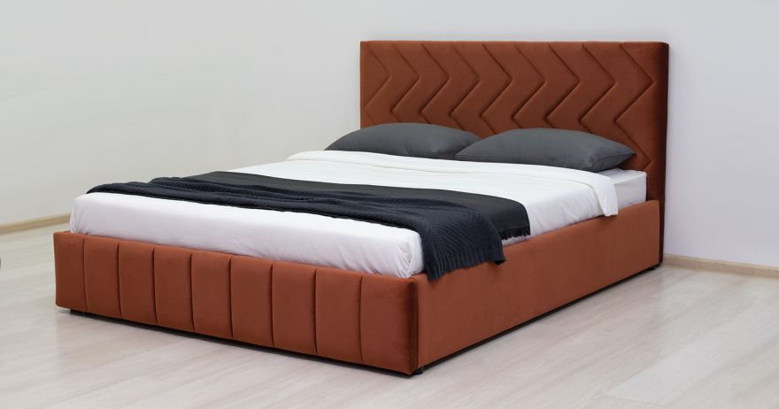 Кровать Милана (арт. Лекко терра (кирпичный))  Моби