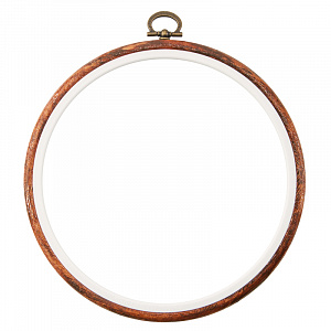 Пяльцы - рамка Hemline круглая,  15 см. пластик, коричневый  N9006/W