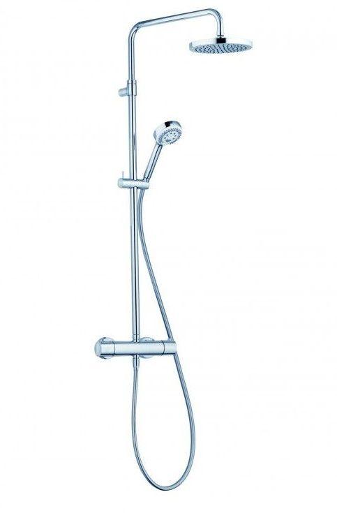 Душевая стойка с термостатом Kludi Logo Dual Shower System 6809205-00 ФОТО