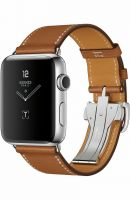 Часы Apple Watch Hermès Series 6 GPS + Cellular 44mm Silver/Space Black Stainless Steel Case with Fauve Barénia Leather Single Tour Deployment Buckle