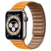Часы Apple Watch Edition Series 6 GPS + Cellular 44mm Titanium Case with California Poppy Leather Link