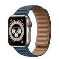 Часы Apple Watch Edition Series 6 GPS + Cellular 40mm Titanium Case with Leather Link Baltic Blue Leather Link