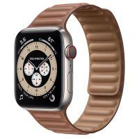 Часы Apple Watch Edition Series 6 GPS + Cellular 44mm Titanium Case with Saddle Brown Leather Link