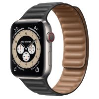 Часы Apple Watch Edition Series 6 GPS + Cellular 44mm Titanium Case with Black Leather Link
