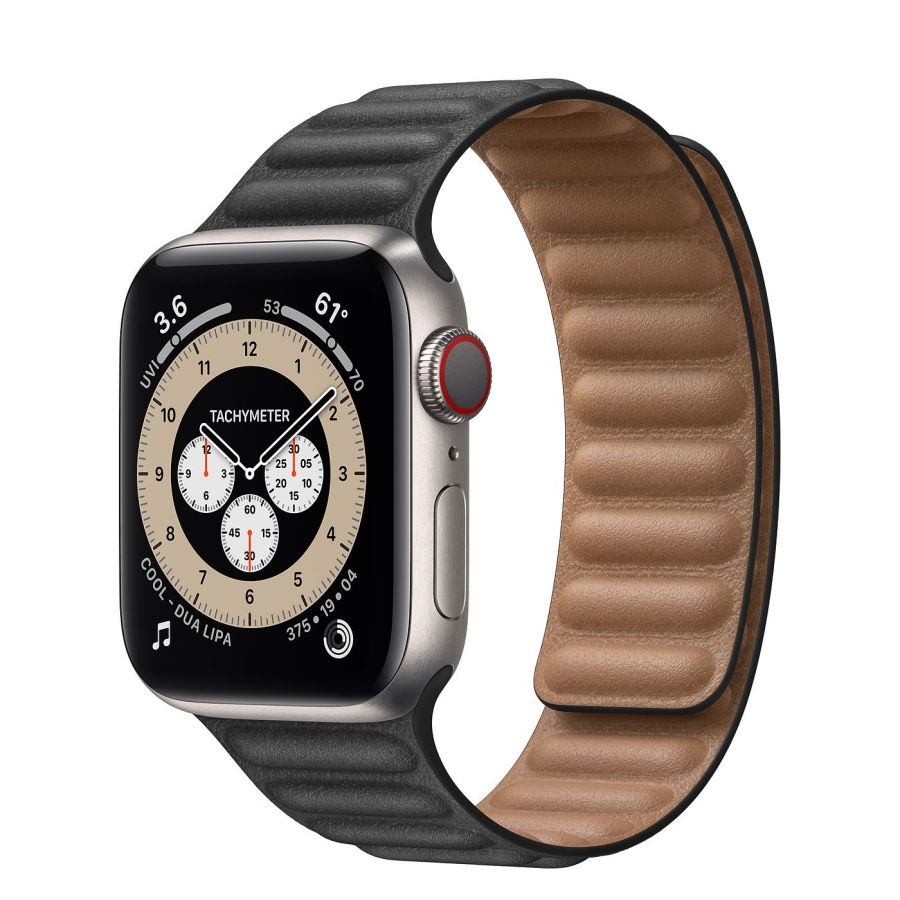 Часы Apple Watch Edition Series 6 GPS + Cellular 40mm Titanium Case with Leather Link Black Leather Link