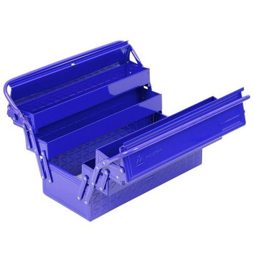 Ящик инструментальный раскладной, 5 отсеков, синий МАСТАК 510-05420B