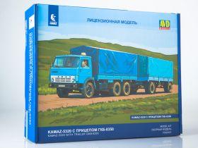 Сборная модель КАМАЗ-5320 с прицепом ГКБ-8350
