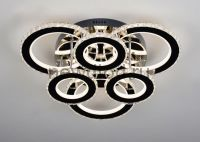Управляемый светодиодный светильник Brilliance 2871 160W нерж.сталь/кристалл 640mm пульт Oreol
