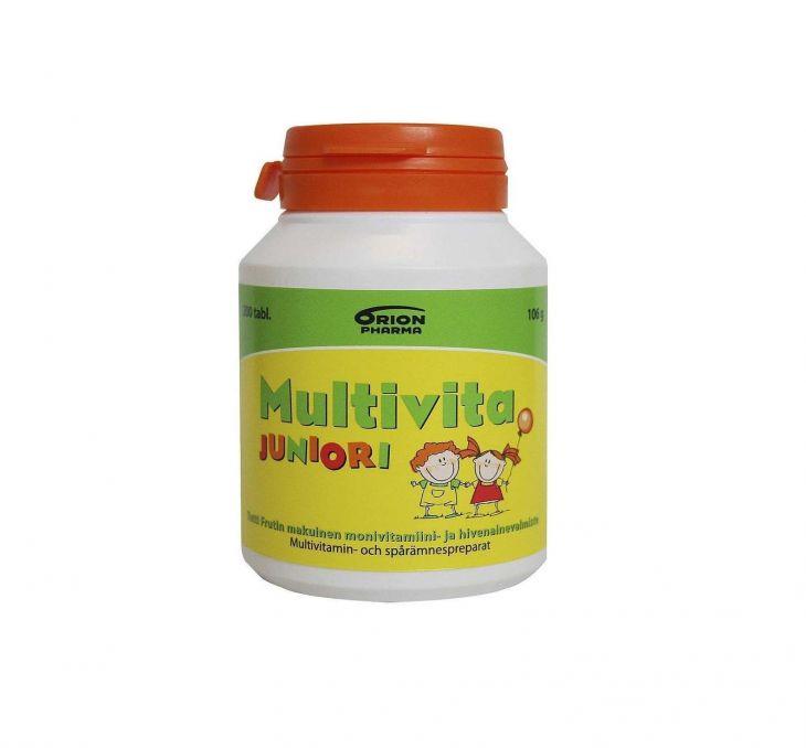 MULTIVITA Junior TuttiFrutti 200 жевательных таблеток