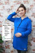 Туника для беременных и кормящих 4026 электрик футер