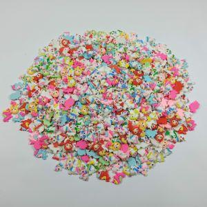 """Кабошон, пластик, микс """"Единороги, русалки"""", размер  16-22 мм (1уп = 50шт), Арт. КБП0425"""