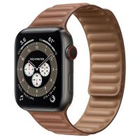 Часы Apple Watch Edition Series 6 GPS + Cellular 44mm Space Black Titanium Case with Saddle Brown Leather Link