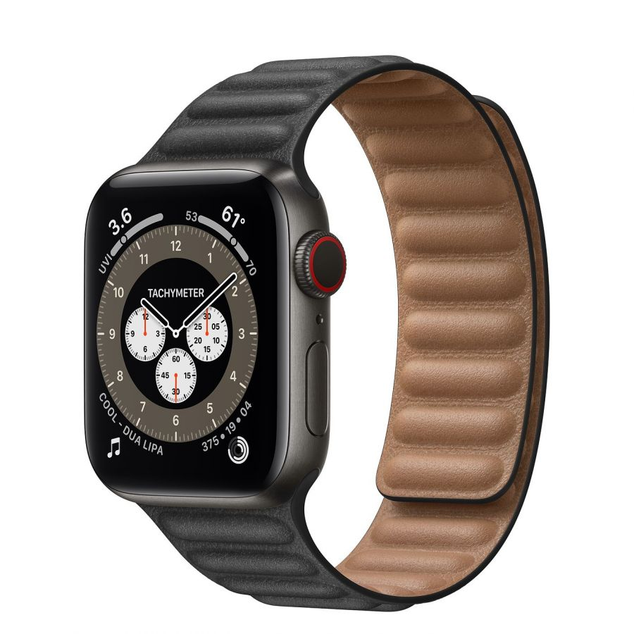 Часы Apple Watch Edition Series 6 GPS + Cellular 40mm Space Black Titanium Case with Leather Link Black Leather Link
