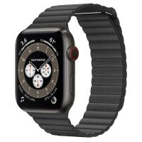 Часы Apple Watch Edition Series 6 GPS + Cellular 44mm Space Black Titanium Case with Black Leather Loop