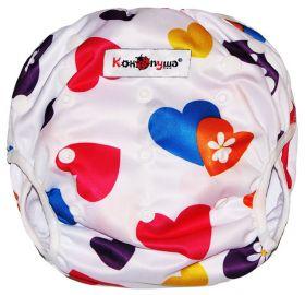 """Трусики для плавания """"Разноцветные сердечки""""(4-18 кг)"""