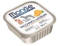 Monge Dog Monoprotein Fruits Консервы для собак паштет из индейки с цитрусовыми, 150г
