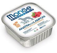 Monge Dog Monoprotein Fruits Консервы для собак паштет из утки с малиной, 150г