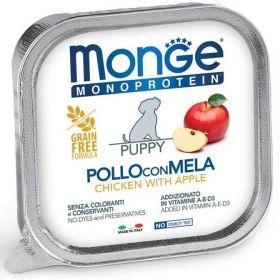 Monge Dog Monoprotein Fruits Консервы для щенков паштет из курицы с яблоком 150г