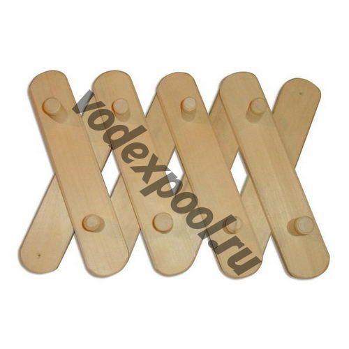 Вешалка деревянная 3-х секционная