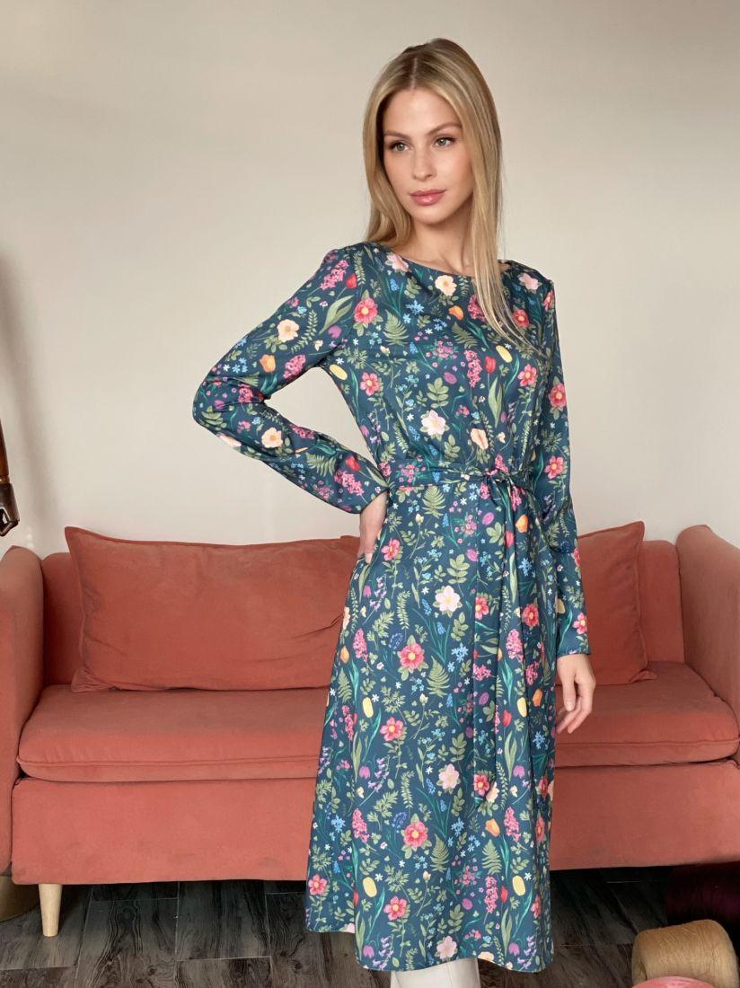 s2863 Платье с принтом