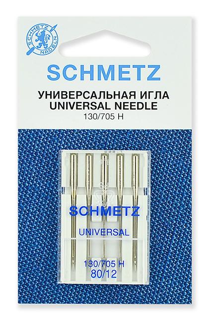 Иглы стандартные Schmetz 130/705H № 80 (22:15.2.VCS)