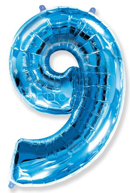 "Цифра ""9"" синий"