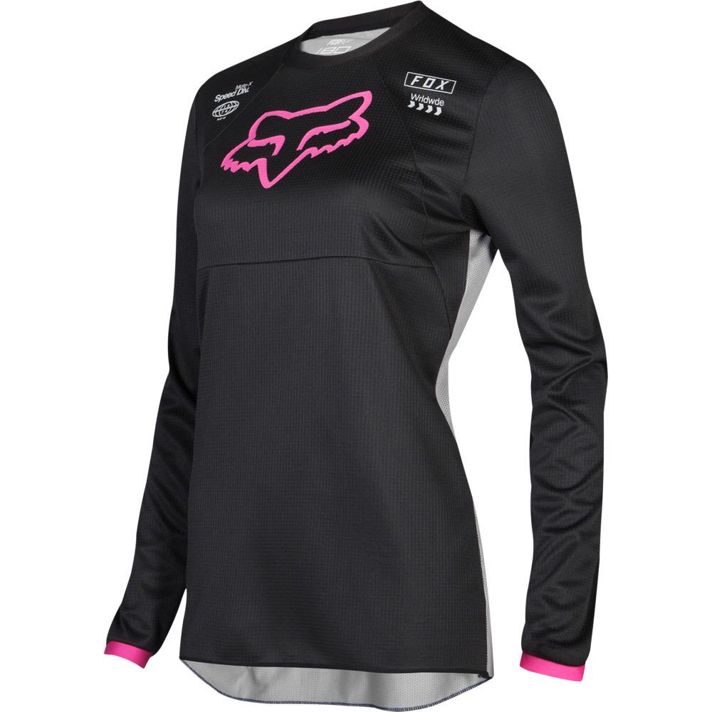 Fox - 2019 WMN 180 Mata Drip Black/Pink джерси женское, черно-розовое