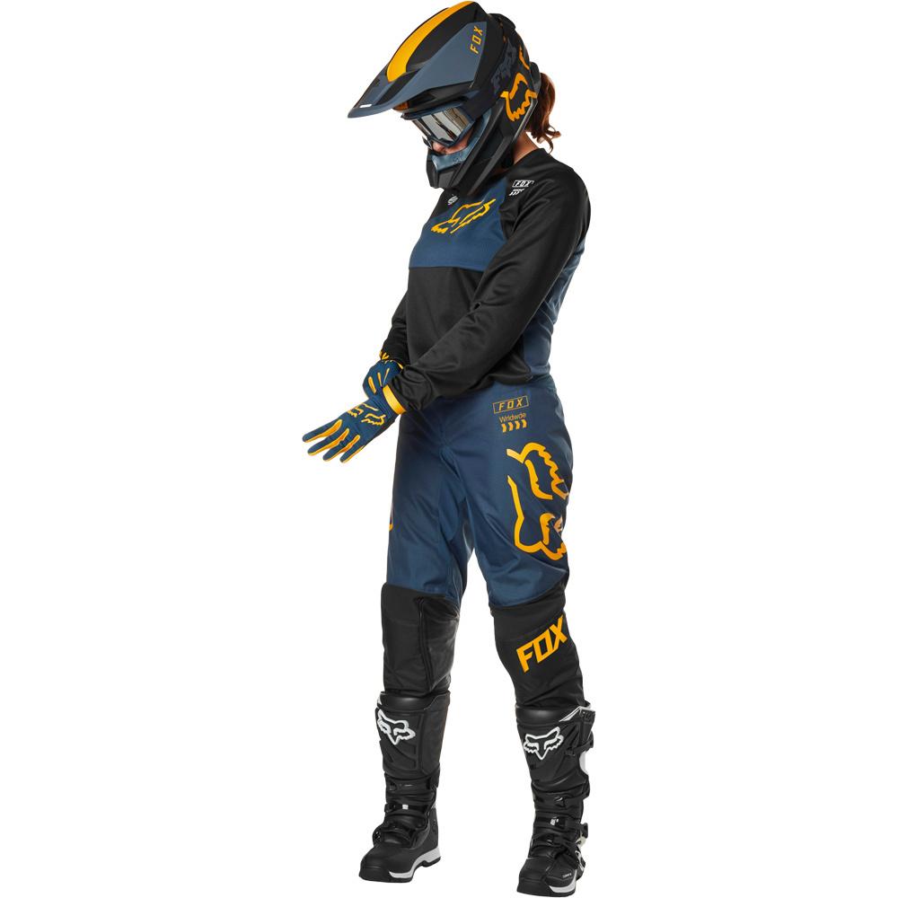 Fox - 2019 WMN 180 Mata Drip Black/Navy комплект женский джерси и штаны, черно-розово-белый