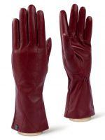 Бордовые кожаные перчатки LABBRA