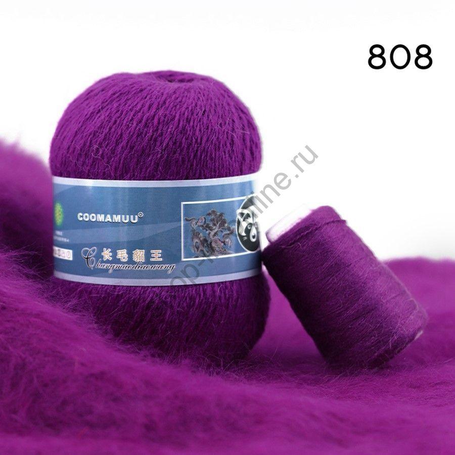 Плюшевая пряжа с шерстью норки 808