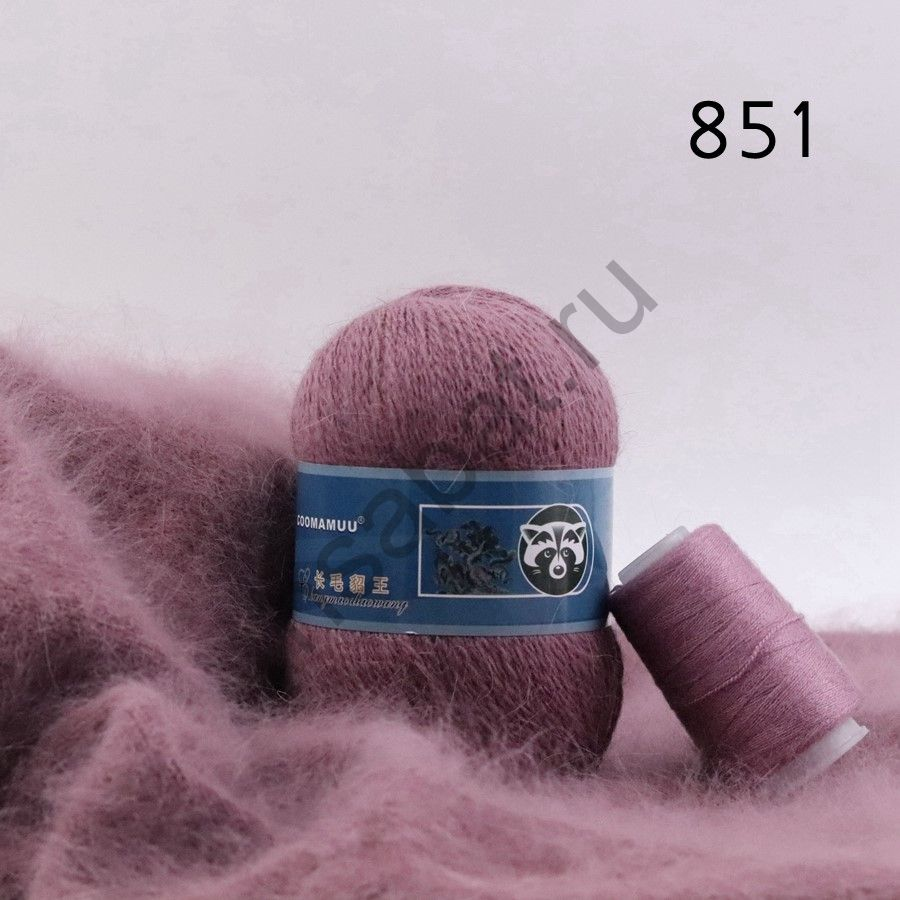 Плюшевая пряжа с шерстью норки 851