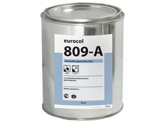 809-А Eurocolor 2-компонентная полиуретановая краска для разметки спортивных площадок желтый (0,5 кг)