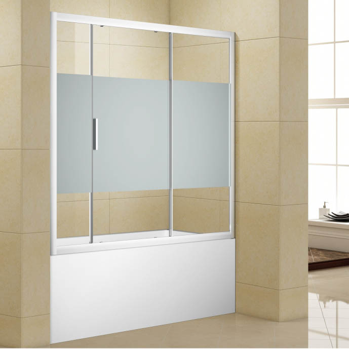 Шторка для ванны Aquanet Practic AE10-B-170H150U-CP, прозрачное стекло
