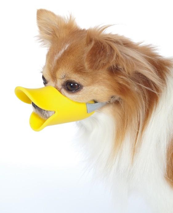 Силиконовый намордник для собак мелких пород Уточка